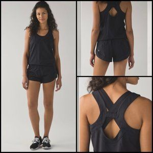 Lululemon Women's Speedy Runsie  - Black - Size 4